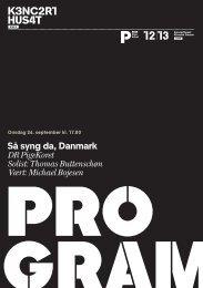Så syng da, Danmark DR PigeKoret Solist: Thomas Buttenschøn ...