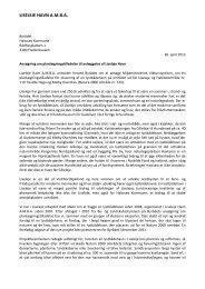 Ansøgning om planlægningstilladelse til anlæggelse af Liseleje Havn