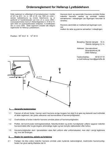 Ordensreglement for Hellerup Lystbådehavn - Hellerup Havn
