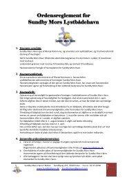 Ordensreglement for Sundby Mors Lystbådehavn