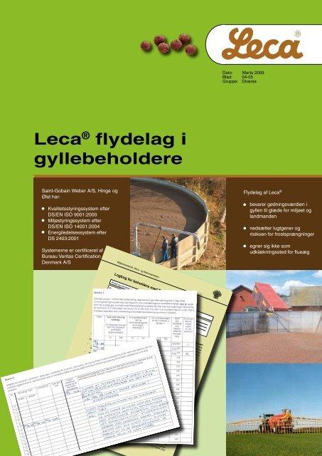 Leca® flydelag i gyllebeholdere - Weber
