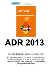 Her finder du den samlede ADR-konvention, 2013. Alle officielle filer ...