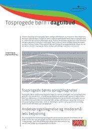 Tosprogede børn i dagtilbud – tekst - Sprogpakken