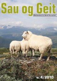 Sau og Geit nr. 4/2010 - Norsk Sau og Geit
