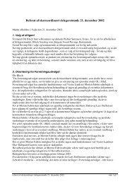 Referat af ekstraordinært delegeretmøde 21. december 2002
