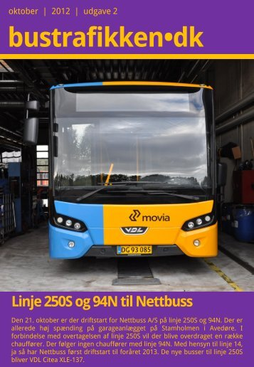 udgave 2 | oktober 2012 - Bustrafikken.dk