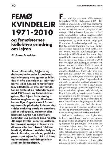 Femø Kvindelejr 1971-2010 og femøisternes kollektive erindring om ...
