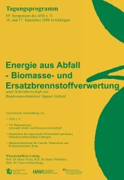 Energie aus Abfall - Biomasse - ANS eV