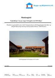 Munksøgård - Alternativ isolering