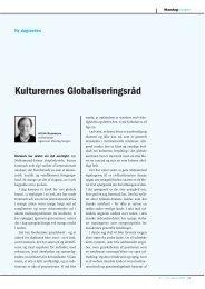 Kulturernes Globaliseringsråd - Mandag Morgen