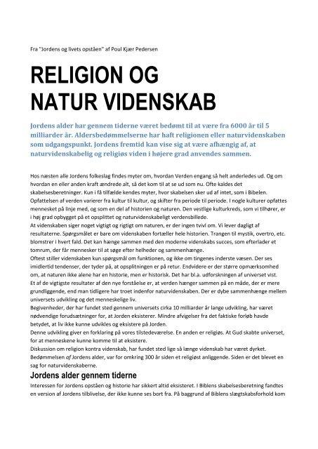 Religion og naturvidenskab