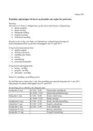 Praktiske oplysninger til elever og forældre om regler for prøverne.