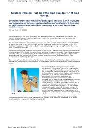 Skulder træning - AG Motion & Fitness
