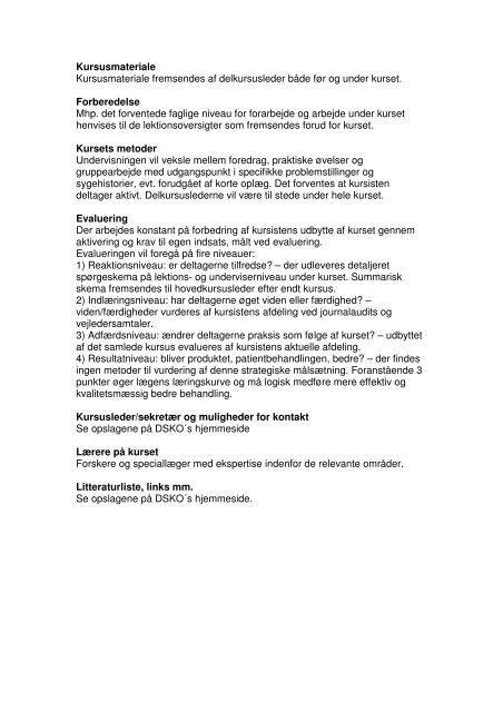 Intern Medicinske problemstillinger - Dansk Selskab for Klinisk ...