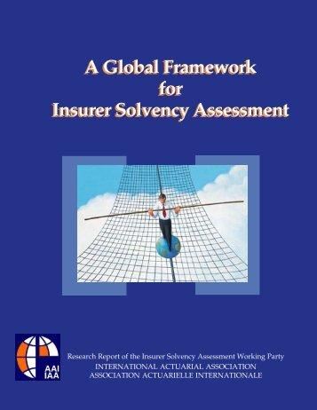 A Global Framework for Insurer Solvency Assessment - International ...