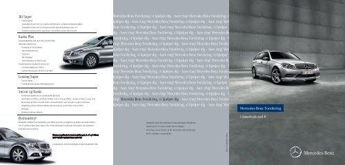 Mercedes-Benz Forsikring, vi hjælper dig – bare ring! Mercedes ...