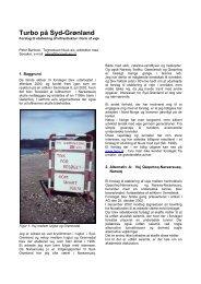 Turbo på Syd-Grønland - Tegnestuen Nuuk