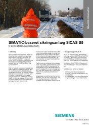 SIMATIC-baseret sikringsanlæg SICAS S5 - Siemens