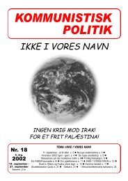 KP18, 2002 - Kommunistisk Politik