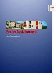 Fag og forskningsnytt 1 2013 - Rusbehandling Midt-Norge HF