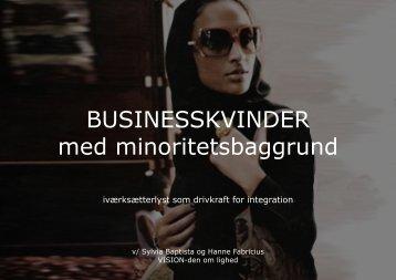 BUSINESSKVINDER med minoritetsbaggrund - Ny i Danmark