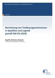 Berechnung von Treibhausgasemissionen in Spedition und Logistik ...