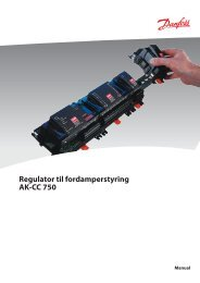 Regulator til fordamperstyring AK-CC 750 - BS Elcontrol