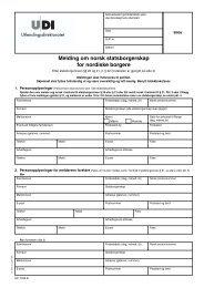Melding om norsk statsborgerskap for nordiske borgere - UDI