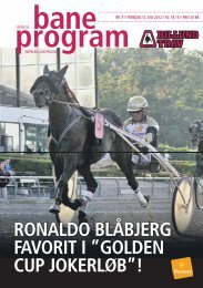 program - Trav og galop