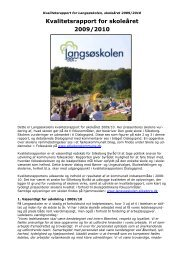 Kvalitetsrapport for skoleåret 2009/2010 - Langsøskolen - Silkeborg