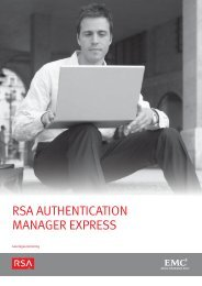 RSA AuthenticAtion MAnAgeR expReSS