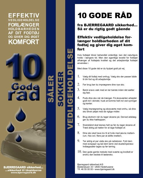 10 GODE RÅD - Bjerregaard sikkerhed