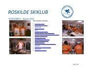 ROSKILDE SKIKLUB NYHEDSBREV – August 2012