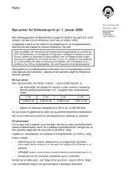 Notat Nye priser for Kirkenet-pc'er pr. 1. januar 2008 - Kirkenettet