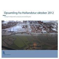 Opsamling fra Hollandstur oktober 2012