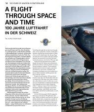 A flight through spAce And time 100 JAhre luftfAhrt in der ... - Swiss