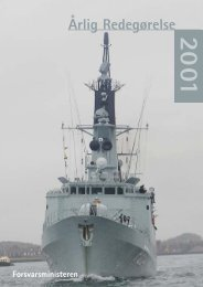 Årlig Redegørelse 2001 - Forsvarsministeriet