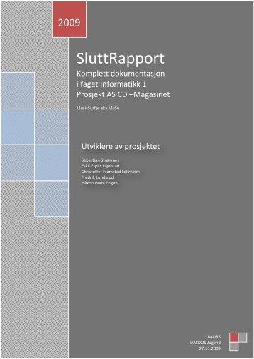SluttRapport - Tihlde