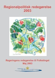 Regionalpolitisk redegørelse 2003