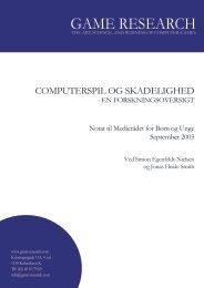 Hent forskningsnotat om computerspil og skadelighed som pdf-fil