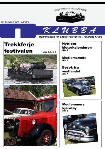 Klubba nr. 3-2011 - Søgne Veteran og Trekkferje Klubb