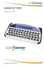 Lightwriter® SL40 - Toby Churchill