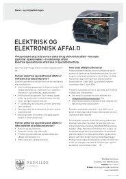ELEKTRISK OG ELEKTRONISK AFFALD - Affaldstjek.dk