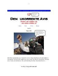 Den ukorrekte Avis Den ukorrekte Avis - Åse Clausen Bjerg