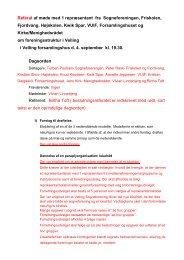 Referat af møde omkring foreningsstrukturen - Velling