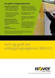 Kort og godt om ombygningsreglerne i BR2010 - Isover