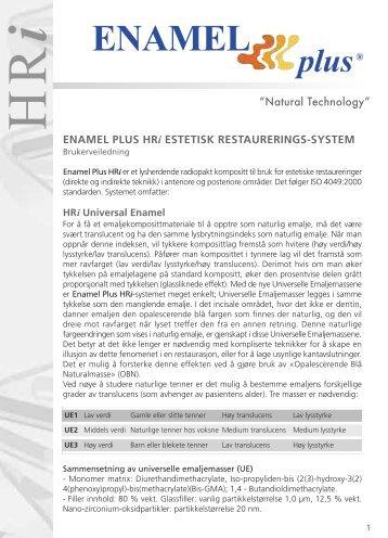 Enamel Plus HRi - Technomedics