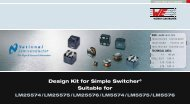 Design Kit for Simple Switcher® Suitable for LM25574 ... - Farnell