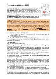 Forberedelse til Pinsen 2010 - Den Evangelisk Lutherske Frikirke