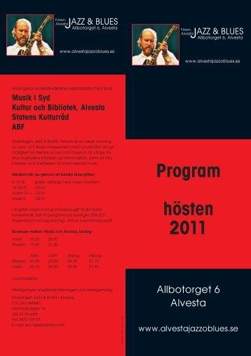 Höst 2011 - Alvesta Jazz & Blues